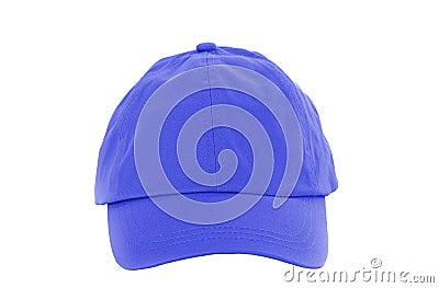 Blue Baseball Cap isolated on white