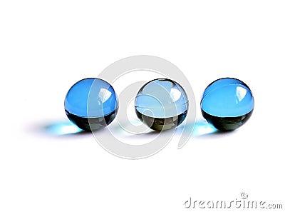 Blue bath balls