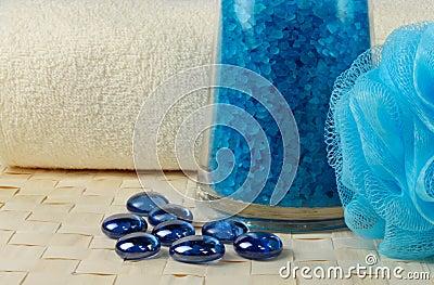 Blue bath salt