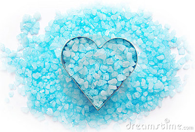 Blue bath salt.
