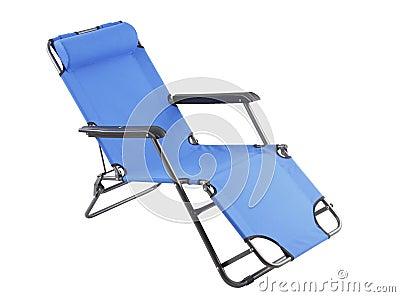 The blue beach chair