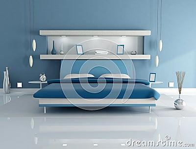 Beautiful Parete Blu Camera Da Letto Gallery - House Design Ideas ...