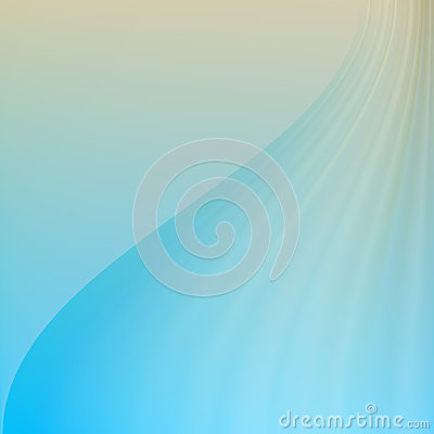Blue Beige Wave. Abstract Background.
