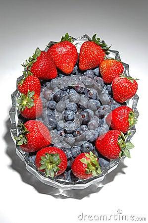 Blue berries straw berries