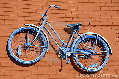 Blue Bicycle Abstract