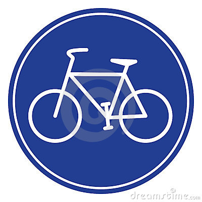 Blue bike icon