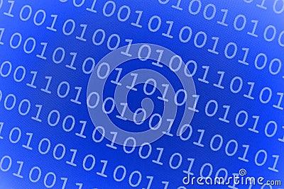 Blue Binary Background