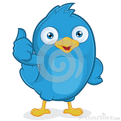 Free Blue Bird Giving Thumbs Up Royalty Free Stock Image - 36559526