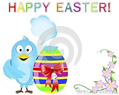 Blue Bird keeps a cute easter egg.