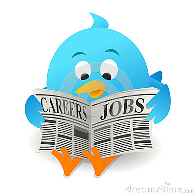 Free Blue Bird Search Jobs Stock Photography - 50841072
