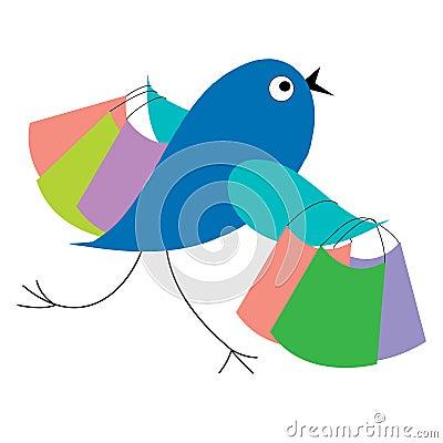 Blue bird shopping runs from sale