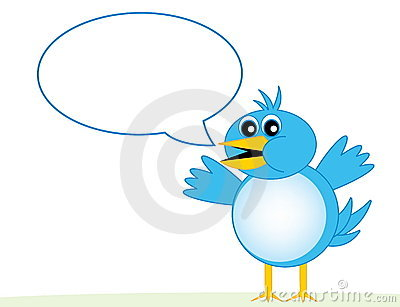 Blue Bird With Word Bubble