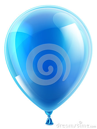 Free Blue Birthday Or Party Balloon Stock Photography - 36974222