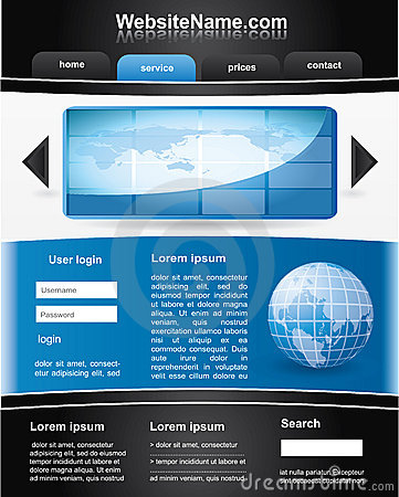 Blue and black editable  website template