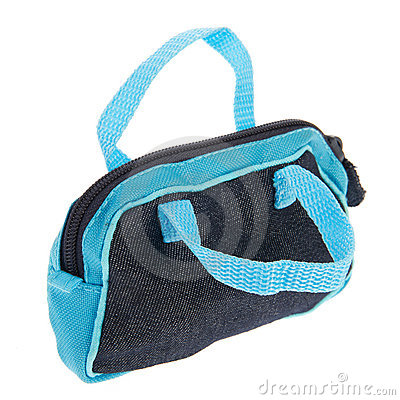 Blue and black sports bag