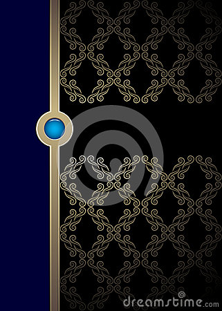 Blue and black vintage background