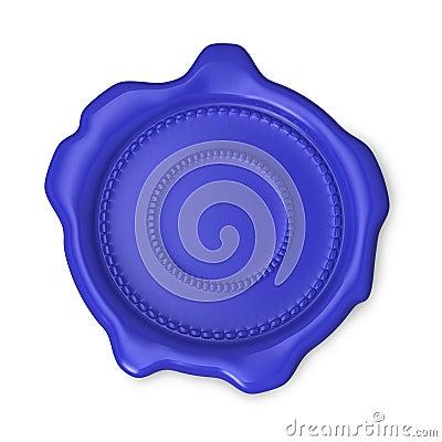 Blue blank wax seal