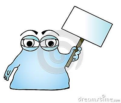 Blue blob illustration.
