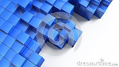 Blue block cubes