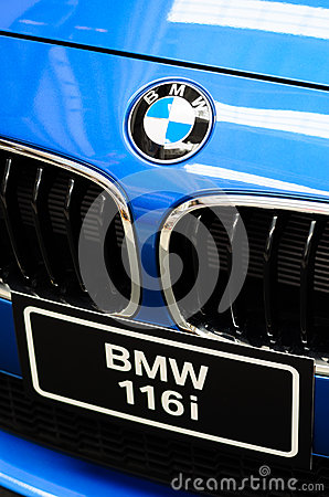 Blue BMW car. Editorial Photography