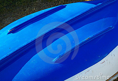 Blue Boat Hull abstract