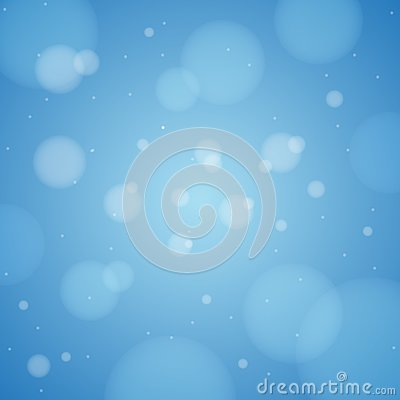 Blue Bokeh Abstract Background Wallpaper Vector Illustration