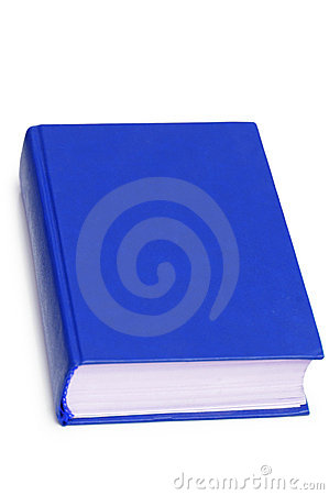 Blue book isolated