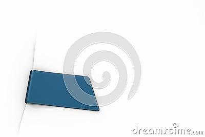 Blue bookmark  on white 3d model