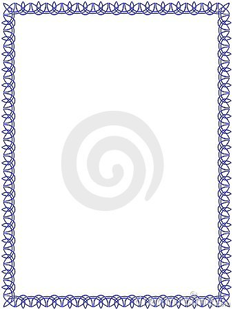 Blue border with celtic ornament #1