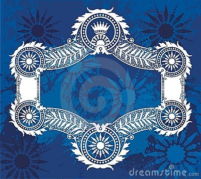 Blue border illustration