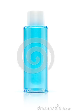 Free Blue Bottle Cosmetic Packaging Of Toner Royalty Free Stock Images - 53773009