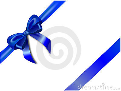 Blue Bow Royalty Free Stock Photo - Image: 17259375