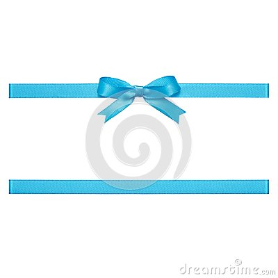 Free Blue Bow Made Of Satin Ribbon Stock Image - 104361921