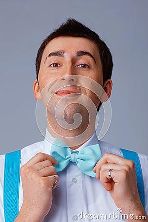 Blue Bow Tie.