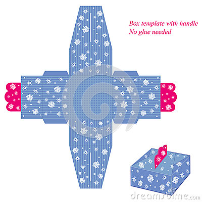Free Blue Box Template With Snowflakes Stock Photos - 47739113