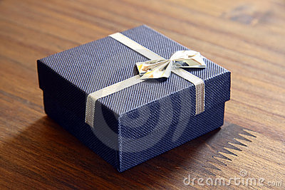 Blue Boxed Gift