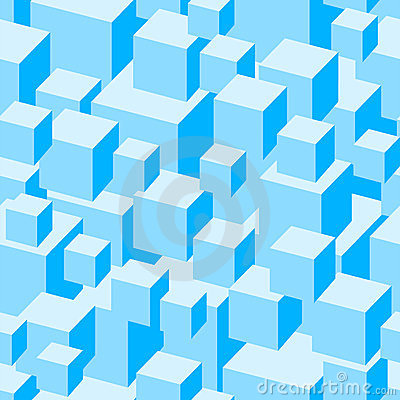 Blue boxes seamless pattern.