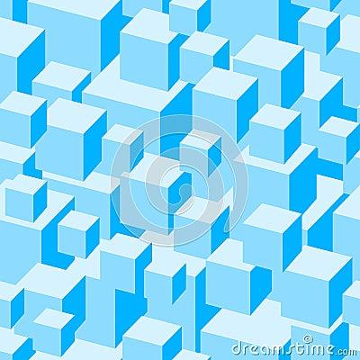 Blue boxes seamless pattern.