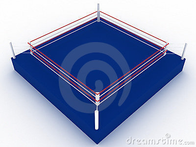 Blue boxing ring №3