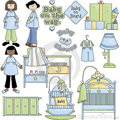 Blue Boy Baby Shower Clipart