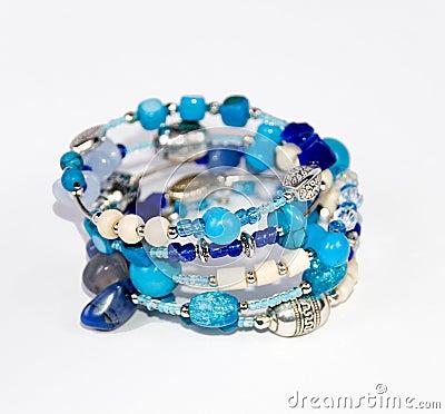 Free Blue Bracelet Royalty Free Stock Photography - 8026097