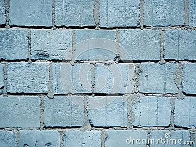 Blue brick breeze wall