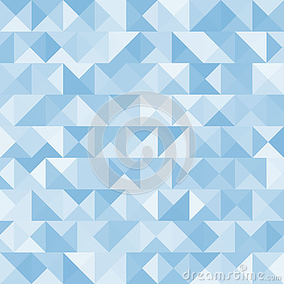 Blue bright abstract triangles background. Vector Vector Illustration