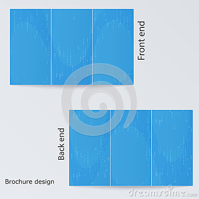 Blue brochure template design.
