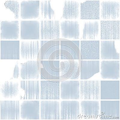Blue broken glassy tiles