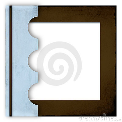 Blue and brown photo album cover