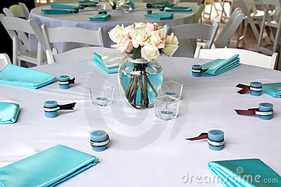Blue & Brown Table Setting 2
