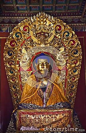 Blue Buddha Buddhist Temple Beijing