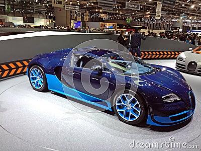 Blue Bugatti Veyron Editorial Image