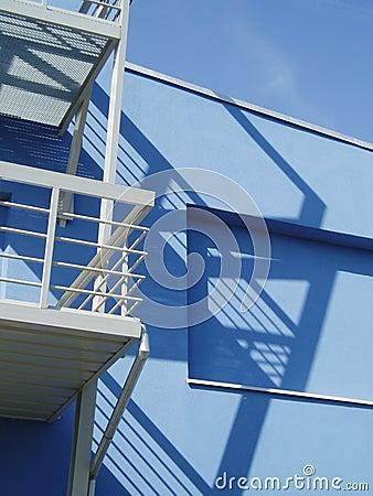 Blue building 2